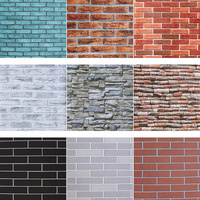 New 3D Stone Brick PVC Vinyl Wholesale Cheap Home Wall Paper/Wallpaper