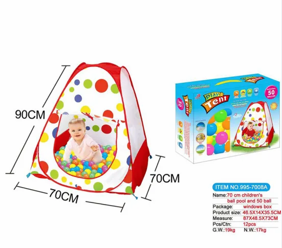 Direct Sale of Children′s Indoor Tent Folding Baby Ball Pool Interactive Games House Ocean Ball Toys