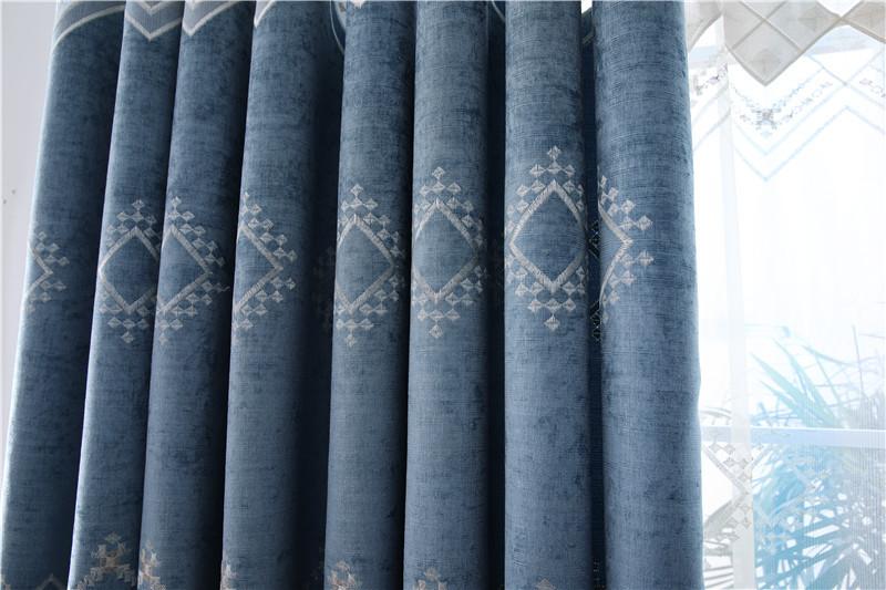 Hot Sale Window Luxury Living Room Jacquard Curtain