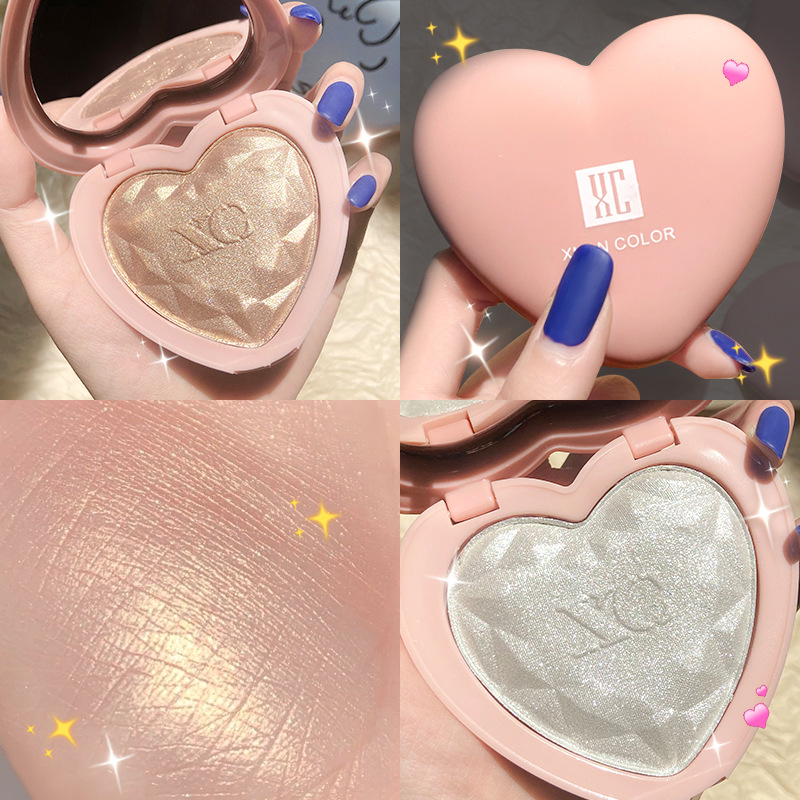 Diamond Highlighter Three-Dimensional Contouring Disc Heart-Shaped Highlighter