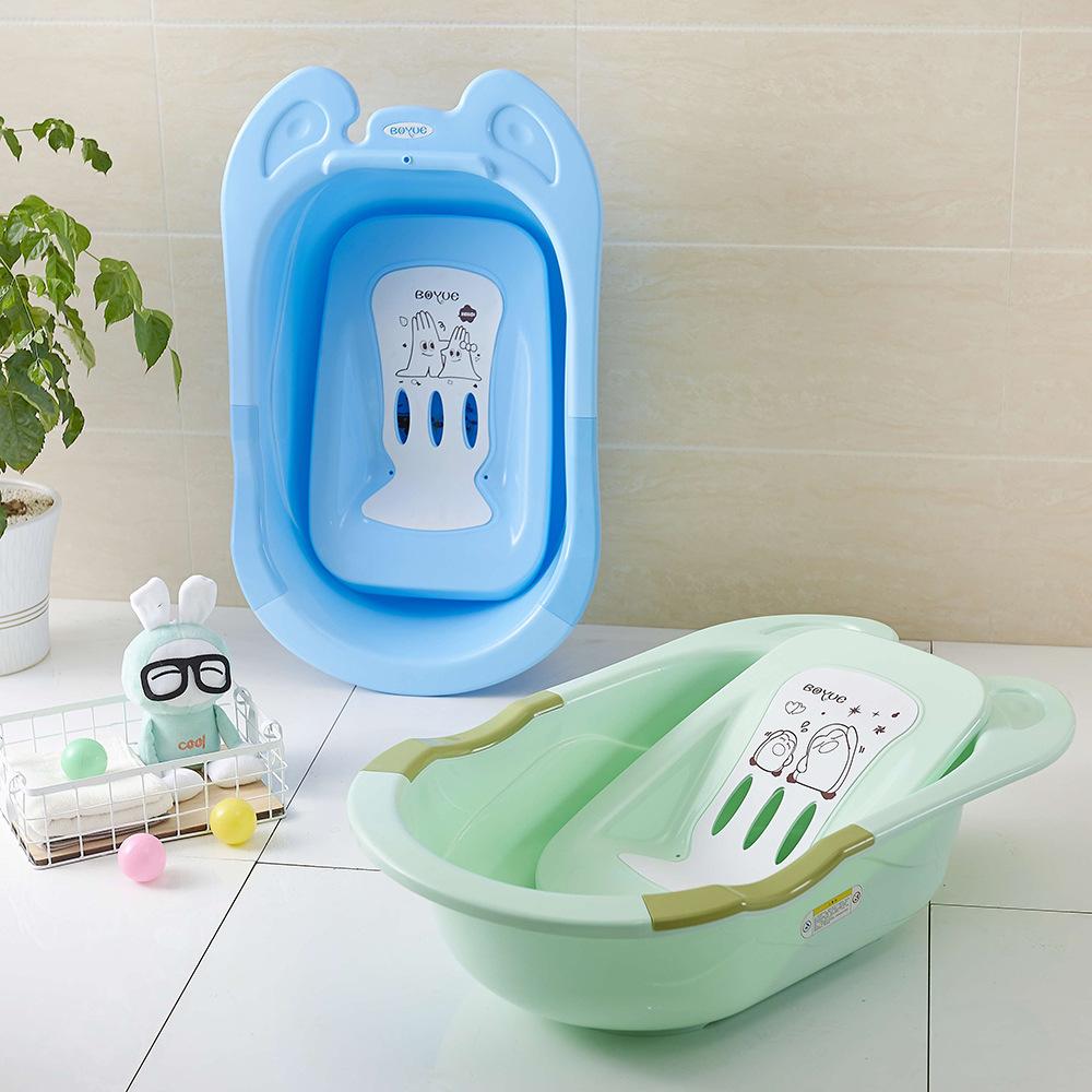 Baby Bathtub Household Children′s Bathtub Newborn Thickening Bath Tub Can Sit and Slip Binaural Bathtub Wholesale