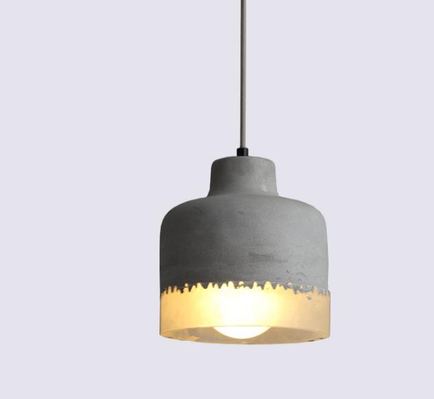 Industrial Wind Resin Concrete Restaurant Cafe Creative Bar Table Single Head Cement Pendant Lights