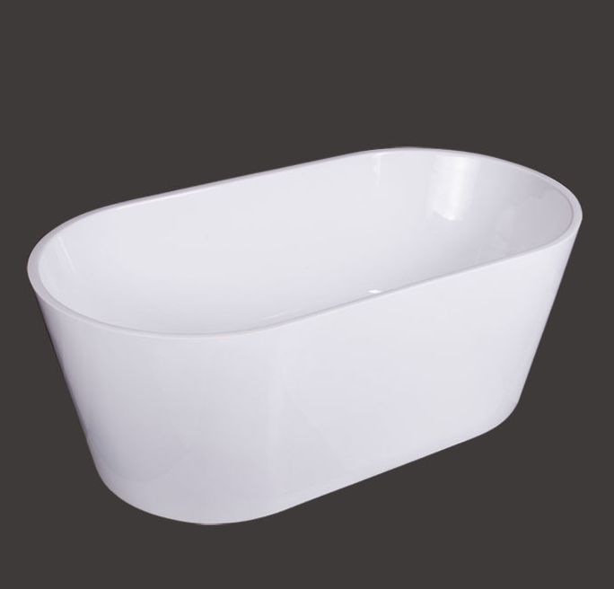 Hotel Exclusive High-End Freestanding White Acrylic Bathtub for Wholesale