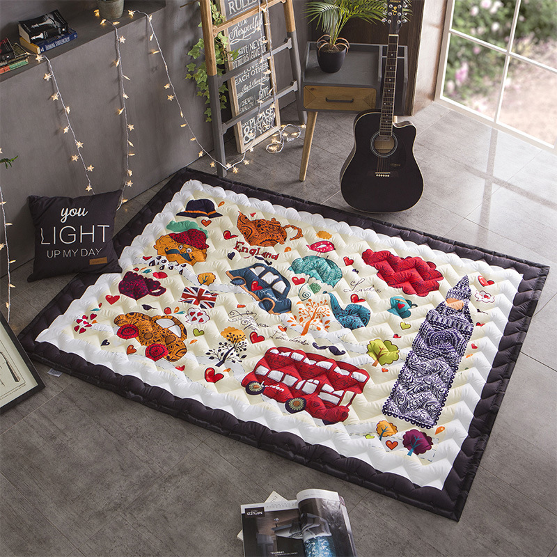 Four Seasons Extra Thick Baby Climbing Mat Child Crawling Mat Baby Play Carpet Mat Folding Living Room Bedroom Household Expenses