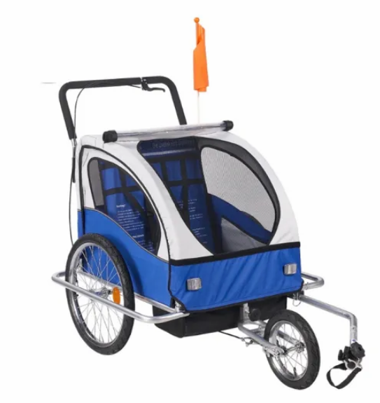 Multifunctional Double Baby Trailer Bicycle Child Trailer