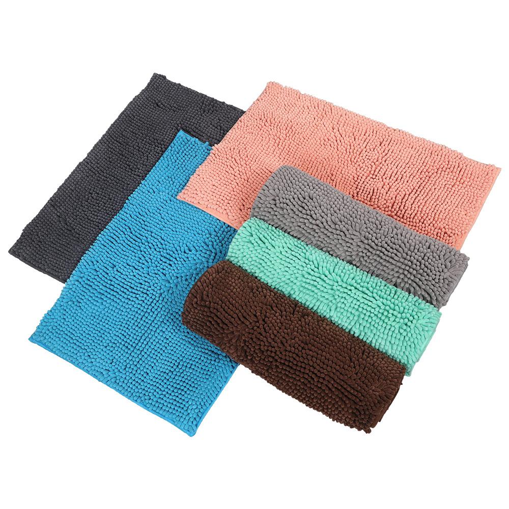 Chenille Floor Mats Door Mats Bathroom Non-Slip Absorbent TPE Carpet