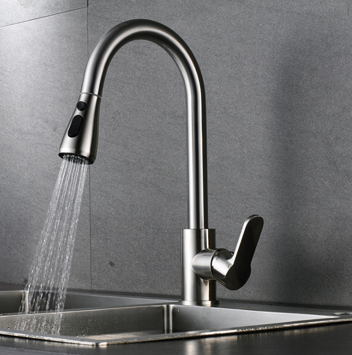 Wholesale Custom Drawable Single Hole Spring Hot and Cold Kitchen Faucet Tap for Sale