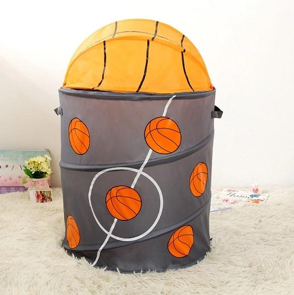 Manufacturers Wholesale New Customized Baseball Laundry Basket Waterproof Fabric Folding Laundry Basket Bucket