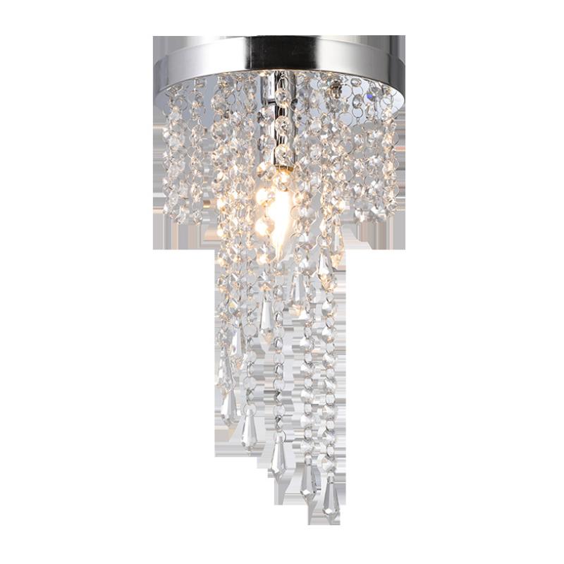 Creative LED Crystal E14 Circular Lighting Corridor Aisle Ceiling Lights