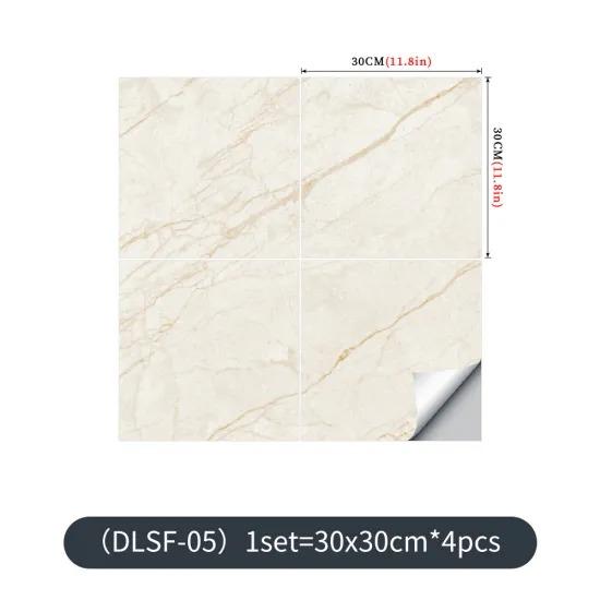 Marble Tile Sticker, Waterproof Floor Sticker, Thick PVC Self-Adhesive Home Improvement Renovation Wall Sticker Wallpaper