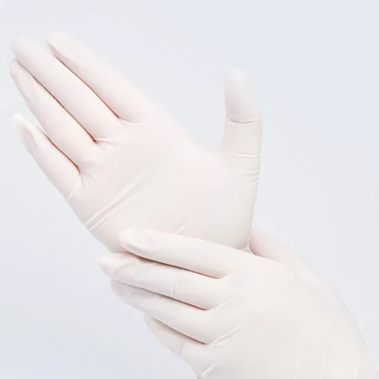 Professional Manufacture White Dust-Free Powder-Free Nitrile Gloves 012