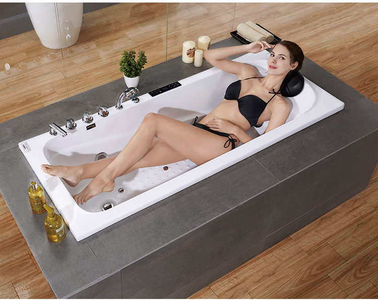 Household Adult Inlaid Surf Massage Small Apartment Acrylic Bathtub for Couple