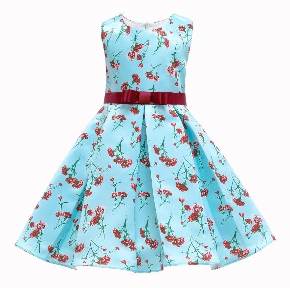 Children′s Dress Girls′ Dress New Spot Children′s Skirt Little Girl Print Princess Dress Dress Skirt