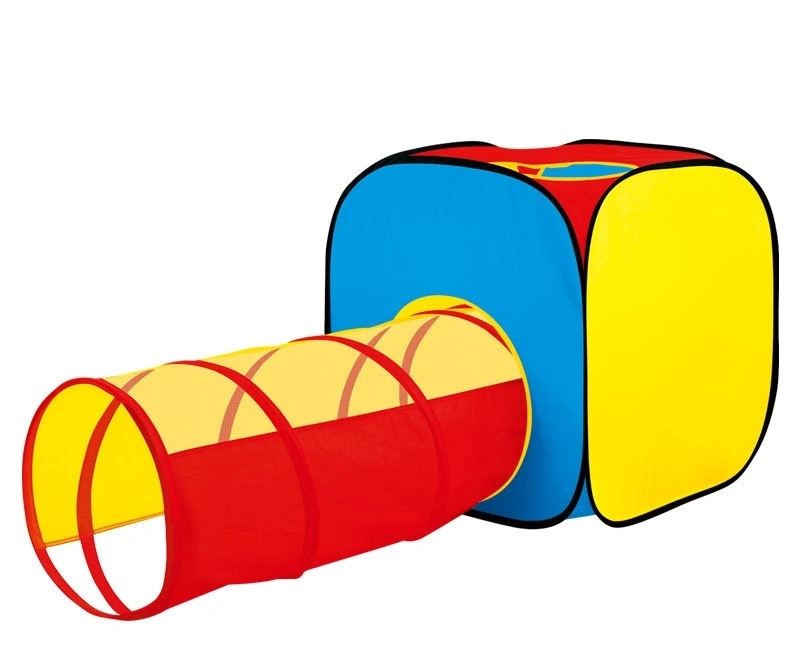 Children′s Indoor and Outdoor Tent Play Room 2 in 1 Crawl Tunnel Portable Folding Toys for Children Aged 0-3 Years
