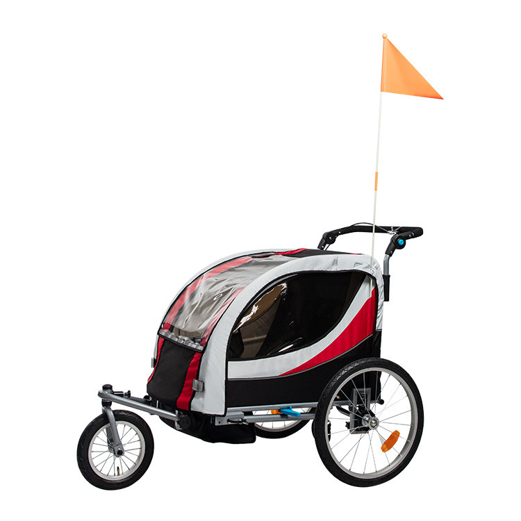 Children′s Bicycle Trailer Double Baby Twins Baby Multifunctional Mountain Stroller