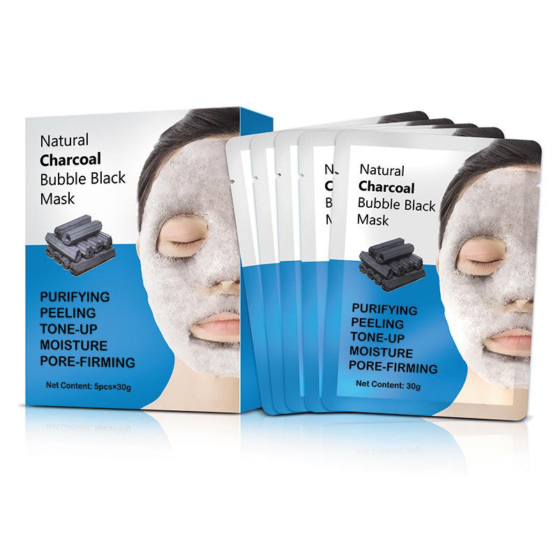 OEM Popular Bamboo Charcoal Cleansing Moisturizing Whitening Brightening Bubble Mask