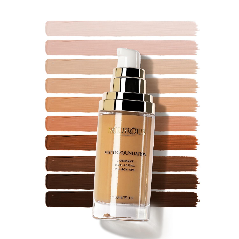 Private Label Vegan Black Skin Concealer Foundation Waterproof Matte Face Full Coverage Liquid Makeup Foundation Cream