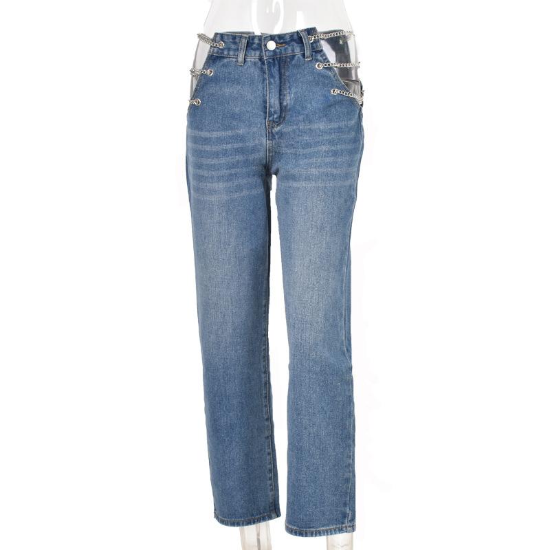 Custom Women Clothing Pantalon Sexy High Waist Straight Ladies Omen Jeans