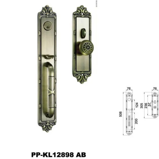 New Style Standard Size Brass Gold Color House Door Handle and Locks