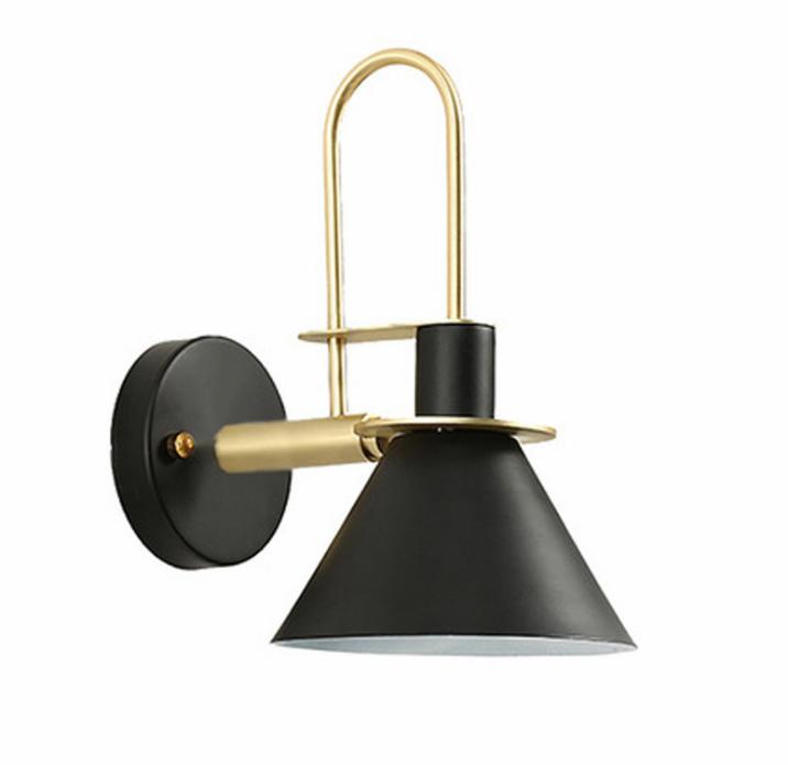 Nordic minimalist macaron bedroom bedside horn style E27 wall lamp