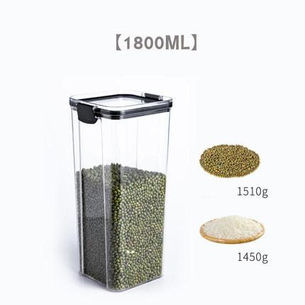 Quality Plastic Stackable Acrylic Kitchen Food Noodle Multi Grain Transparent Sealed Storage Tank