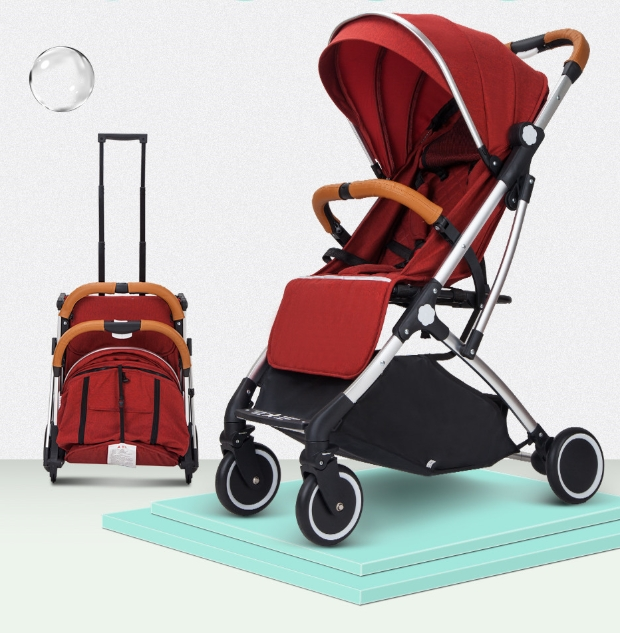 2021 Compact Super Light Weight Pushchair Small Size Smart Net Fabris 3 In 1 High Landscape Easy Folding Baby Stroller in Whole
