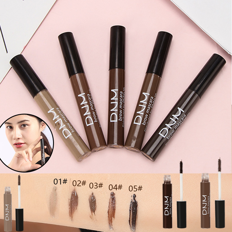 Natural Long-Lasting Easy-to-Color Waterproof Sweat-Proof 5-Color Eyebrow Cream