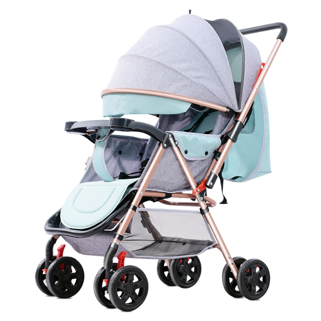 Baby Stroller Can Sit in a Folding Portable Two-Way Baby Umbrella Carriage Newborn Baby Stroller