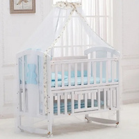 Manufacturers Wholesale High Quality Minimalist Luxurious Wooden Baby Crib 2021