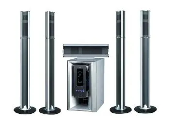 Wooden ABS Covered Black /Silver Music Speaker Multimedia 5.1 Home Theatre System