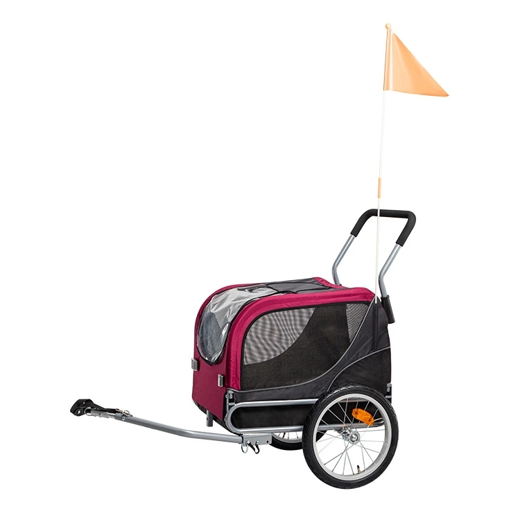 Multi-Function Cart, Foldable, Small Size Pet Children Bicycle Trailer with Tow Bar for Cats and Dogs