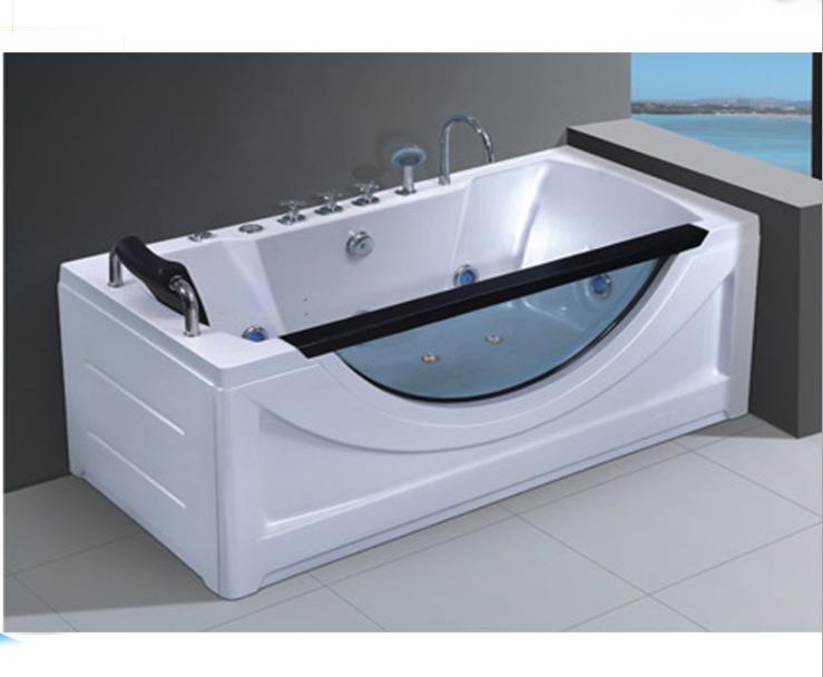 1700X800X650mm Wholesale Bathroom Surf Massage SPA Bathtub with Glass