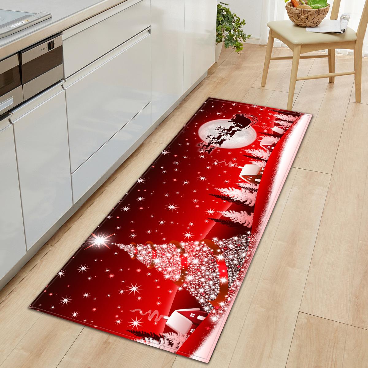 Hot Sale Christmas Absorbent Rectangular Bathroom Non-Slip Door Mat Bedroom Living Room Custom Floor Mat Carpet