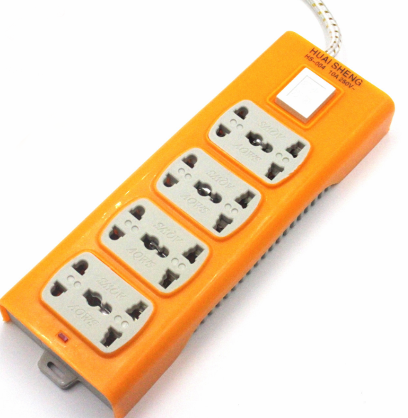 Wholesale Hot Selling Yellow Color 2 Meters Switch Electric Extension Sockets