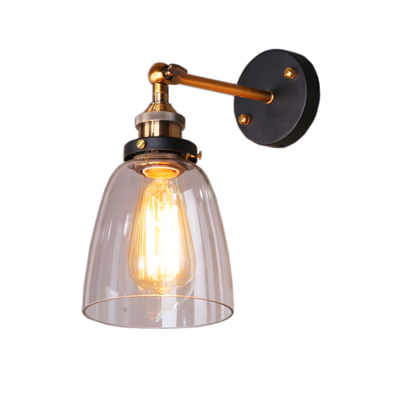 Factory Wholesale Glass Retro Wall Lamps for Lighting