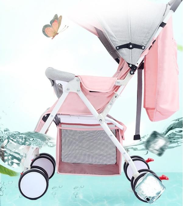 Factory Direct Sale Super Light Baby Stroller Easy Fold up Walk Baby Summer Stroller