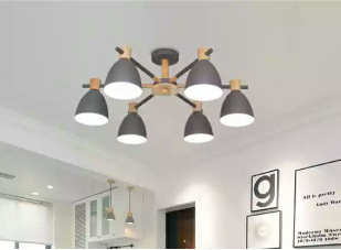 Nordic Simple Creative Personality Modern Solid Wood Macaron Chandelier