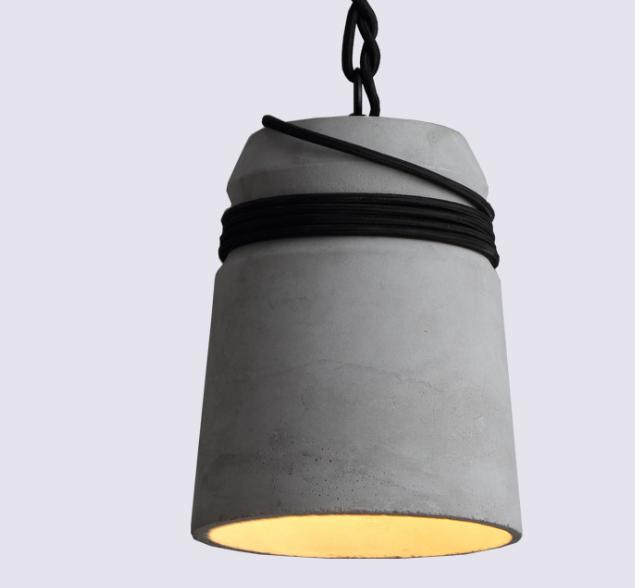 Wholesale Concrete Cord Wrapped Monolith Minimalist Chandelier Pendant Light