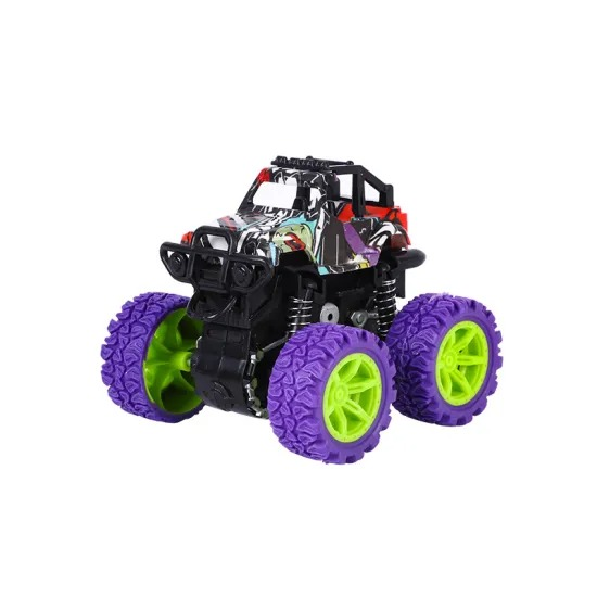 High Quality Inertial Four-Wheel-Drive off-Road Vehicle Children Simulation Stunt Model Car Toy Child Resistant Vehicle Toys