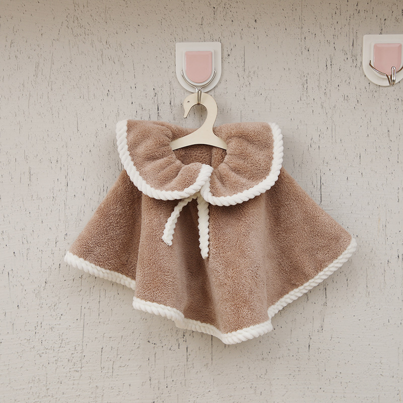 The New Coral Fleece Can Be Hung Cute Skirt Hand Towel Korean Thick Creative Clothes Hand Towel