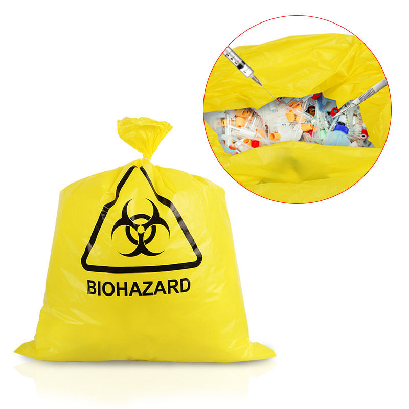 Spot Customizable Medical Waste Bag, New Material Thickened Yellow Hospital Clinic Waste Packaging Plastic Bag