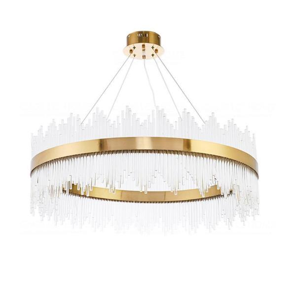 Nordic Simple Net Red Living Room Light Luxury Round Crystal Chandelier for Sale