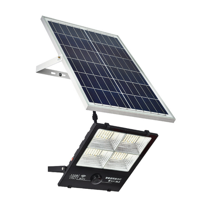 2020 Waterproof WiFi 60W/120W/200W/300W Solar LED Street Flood Lights