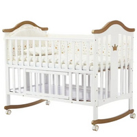 High Quality Multifunctional Baby Goods Wooden Baby Furniture Crib 2021