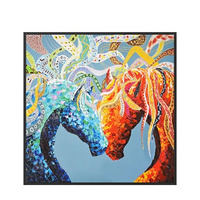 Nordic Style Horse Head Porch Decorative Dining Room Bedroom Oil Painting Living Room Sofa Background Wall Painting