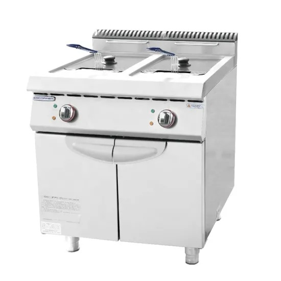 Electric Style 2-Tank Fryer Hot Sell Commercial Two Tank Fryer Fried Chicken Chips Double Deep Fryer