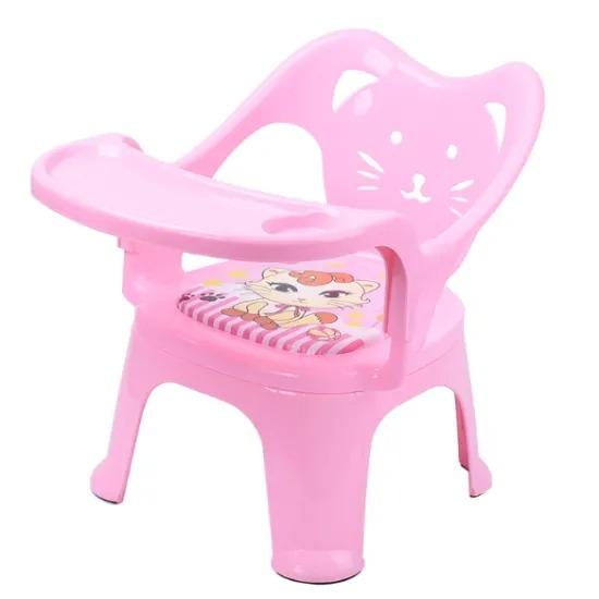 Children′s Dining Chair Kindergarten Baby Eat Table Children′s Chair Back Cat Called Chair Baby Plastic Little Stool