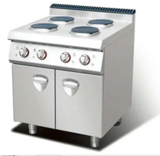 Commercial Intelligent Temperature Control 380V 50Hz Electric 4 Hot-Plate Cooker with Cabinet