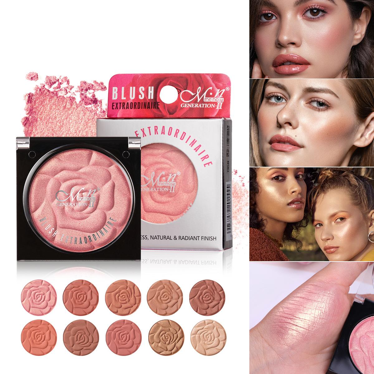 10 Color Petal Blush Monochrom Matte Pearlescent Petal Rouge Natural Professional Repair Shadow Pink Blush